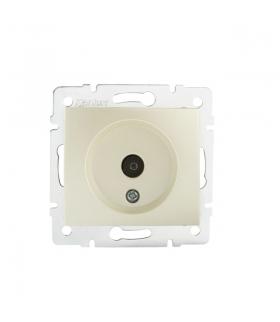 DOMO 01-1300-030 perłowy biały Gniazdo antenowe typu F końcowe Kanlux 24979