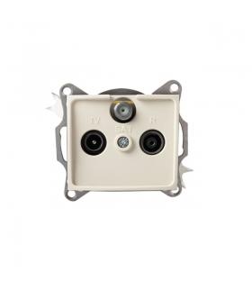 DOMO 01-1340-003 kremowy Gniazdo RTV-SAT przelotowe Kanlux 24806