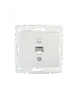 DOMO 01-1390-002 biały Gniazdo komputerowe pojedyncze, (RJ45Cat 5e Jack) Kanlux 24753