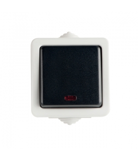 TEKNO 05-1110-143 czarny Łącznik jednobiegunowy z LED Kanlux 25353