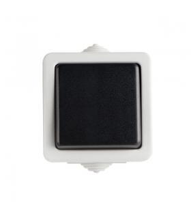 TEKNO 05-1080-143 czarny Łącznik zwierny z LED Kanlux 25355
