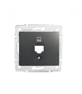 DOMO 01-1399-041 grafit Adapter gniazdo komputerowe pojedyncze, (RJ45Ca Jack), bez gniazda Kanlux 25923