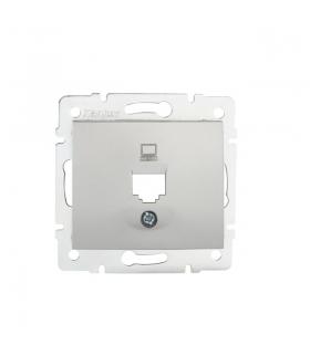 DOMO 01-1399-043 srebrny Adapter gniazdo komputerowe pojedyncze, (RJ45Ca Jack), bez gniazda Kanlux 25922