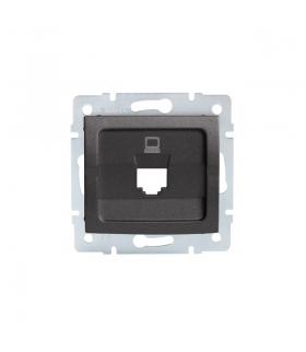 LOGI 02-1399-041 grafit Adapter gniazdo komputerowe pojedyncze, (RJ45 Jack), bez gniazda Kanlux 25929