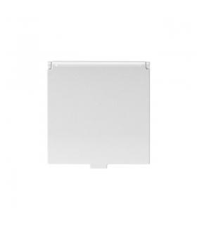 BIURO 04-1230-102 biały Gniazdo zasilające Schuko, z klapką, IP20, z ochroną styków Kanlux 25325