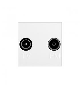BIURO 02-1320-102 biały Gniazdo RTV przelotowe Kanlux 25328