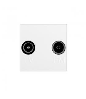 BIURO 02-1330-102 biały Gniazdo RTV końcowe Kanlux 25327