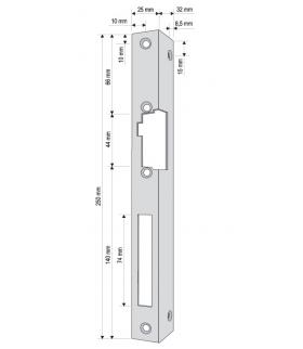 KĄTOWNIK DO RYGLA (ELEKTROZACZEPU) KR-04G2 lewy długi