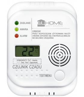 Czujnik czadu El Home CD-75A4 - wyświetlacz LCD, termometr, bateryjny