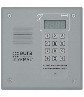 PANEL CYFROWY CYFRAL PC-1000RE srebrny z czytnikiem RFiD i wbudowaną elektroniką