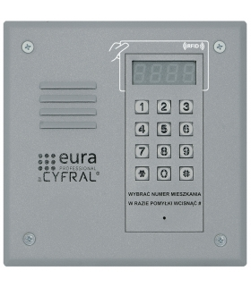 PANEL CYFROWY CYFRAL PC-1000R srebrny z czytnikiem RFiD