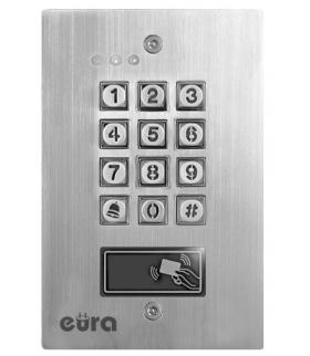 ZAMEK SZYFROWY EURA AC-18A1 - 2 wyjścia, karta zbliżeniowa, podtynk, Wiegand, przycisk dzwonka