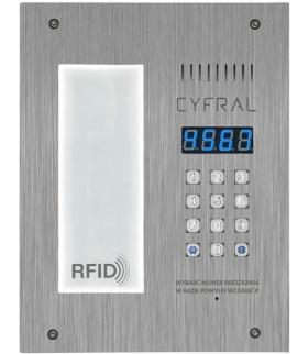 PANEL CYFROWY CYFRAL PC-3000R LM, ze integrowaną listą lokatorską i czytnikiem RFiD