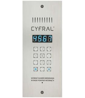 PANEL CYFROWY CYFRAL  PC-3000R, wąski z czytnikiem RFiD