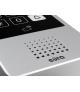 WIDEODOMOFON EURA VDP-10A3 JUPITER CZARNY kolor 7 otwieranie 2 wejść pamięć wewnętrzna dotykowy szyfrator czytnik zbliżeniowy