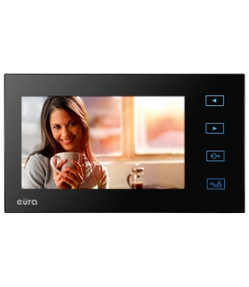 MONITOR EURA VDA-09A3 ekran 7 pamięć wewnętrzna otwieranie 2 wejść do wideodomofonu VDP-29A3 SATURN PLUS