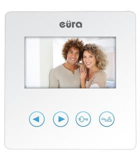 MONITOR EURA VDA-16A3 BIAŁY kolor 4.3 biały do wideodomofonu VDP-16A3 SYRIUSZ BIAŁY