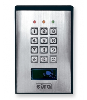 ZAMEK SZYFROWY EURA AC-15A1 - 3 wyjścia, karta zbliżeniowa, natynk, Wiegand