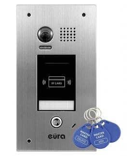 KASETA ZEWNĘTRZNA WIDEODOMOFONU EURA VDA-72A5 v.2 2EASY podtynkowa funkcja karty zbliżeniowej