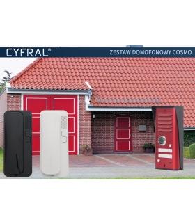 DOMOFON CYFRAL 'COSMO' zestaw 2-lokatorski czerwony