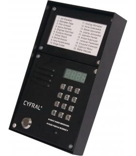 ZESTAW CYFROWY CYFRAL Z-2000PN CZARNY LM-PN (panel PC-2000D + ramka N/T + lista lokatorów LM-1000)