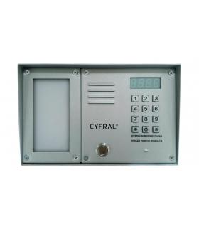 ZESTAW CYFROWY CYFRAL Z-2000PN SREBRNY LM-PN (panel PC-2000D + ramka N/T + lista lokatorów LM-1000)