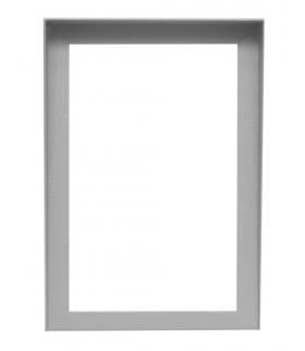 RAMKA CYFRAL RM-1000 do małej listy lokatorów mała srebrna