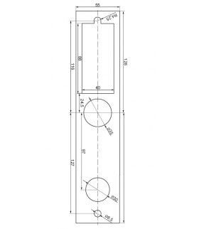 PODKŁADKA EURA ELW-04B9 ułatwiająca montaż szyldów zamków ELH-10B9 i ELH-30B9 prostokątna