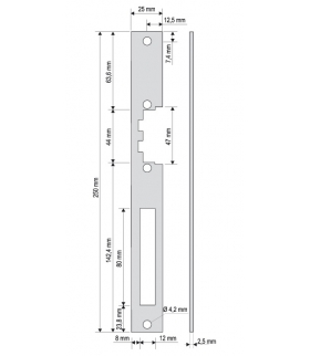 PŁASKOWNIK DO RYGLA (ELEKTROZACZEPU) PR-00G2 długi
