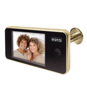WIDEO-WIZJER DO DRZWI EURA VDP-01C1 ERIS ZŁOTY 3,2 LCD
