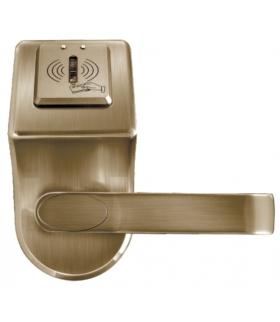 SZYLD Z KONTROLĄ DOSTĘPU EURA ELH-60B9 brass - z czytnikiem kart zbliżeniowych (RFID), bateryjny, mosiądz