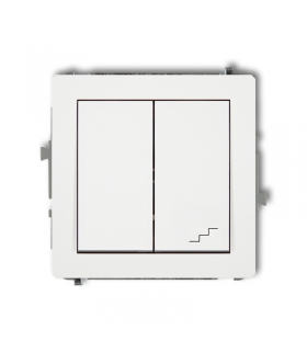 DECO Mechanizm łącznika jednobiegunowego ze schodowym (wspólne zasilanie) Karlik DWP-10.1