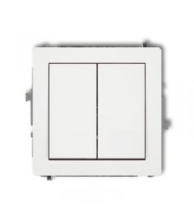 DECO Mechanizm łącznika zwiernego, świecznikowego (dwa klawisze bez piktogramów, wspólne zasilanie) Karlik DWP-44.1