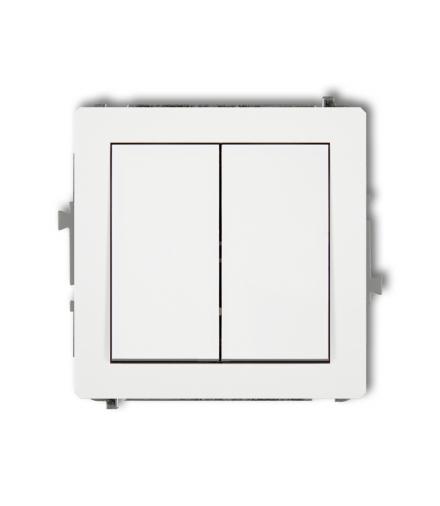 DECO Mechanizm łącznika zwiernego, świecznikowego (dwa klawisze bez piktogramów, osobne zasilanie) Karlik DWP-44.2