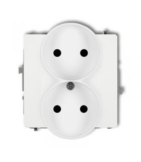 DECO Mechanizm gniazda podwójnego do ramki bez uziemienia 2x2P (przesłony torów prądowych) Karlik DGPR-2p