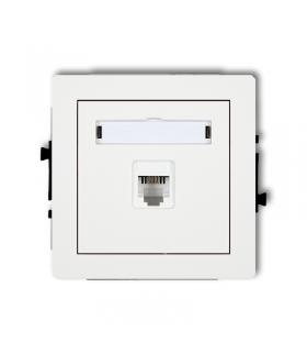 DECO Mechanizm gniazda telefonicznego pojedynczego 1xRJ11, 4-stykowy, beznarzędziowe Karlik DGT-1