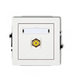 DECO Mechanizm gniazda pojedynczego RCA (typu cinch - żółty, pozłacany) Karlik DGRCA-1