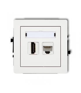 DECO Mechanizm gniazda pojedynczego HDMI + gniazda komp. poj. 1xRJ45, kat. 5e, 8-stykowy Karlik DGHK