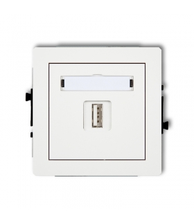 DECO Mechanizm gniazda pojedynczego USB-AA 2.0 Karlik DGUSB-1