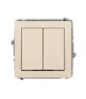 DECO Mechanizm łącznika zwiernego, świecznikowego (dwa klawisze bez piktogramów, wspólne zasilanie) Karlik 1DWP-44.1