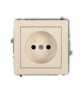 DECO Mechanizm gniazda pojedynczego bez uziemienia 2P (przesłony torów prądowych) Karlik 1DGP-1p