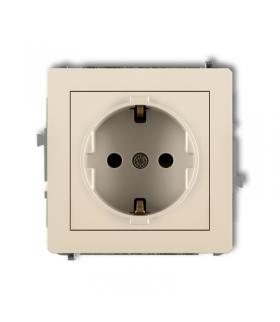 DECO Mechanizm gniazda pojedynczego z uziemieniem SCHUKO 2P+Z (przesłony torów prądowych) Karlik 1DGP-1sp