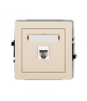DECO Mechanizm gniazda telefonicznego pojedynczego 1xRJ11, 4-stykowy, beznarzędziowe Karlik 1DGT-1