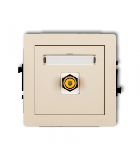 DECO Mechanizm gniazda pojedynczego RCA (typu cinch - żółty, pozłacany) Karlik 1DGRCA-1