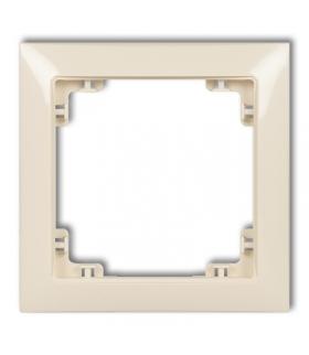 DECO Ramka uniwersalna pojedyncza z tworzywa DECO Soft Karlik 1DRSO-1