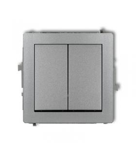 DECO Mechanizm łącznika zwiernego, świecznikowego (dwa klawisze bez piktogramów, wspólne zasilanie) Karlik 7DWP-44.1