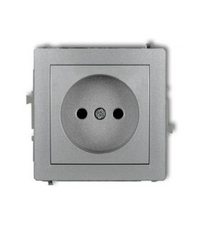DECO Mechanizm gniazda pojedynczego bez uziemienia 2P (przesłony torów prądowych) Karlik 7DGP-1p