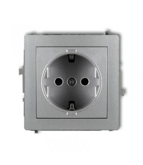 DECO Mechanizm gniazda pojedynczego z uziemieniem SCHUKO 2P+Z (przesłony torów prądowych) Karlik 7DGP-1sp