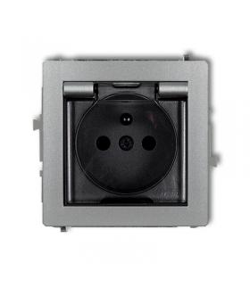 DECO Mechanizm gniazda bryzgoszczelnego z uziemieniem 2P+Z (klapka dymna, przesłony torów prądowych) Karlik 7DGPB-1zdp