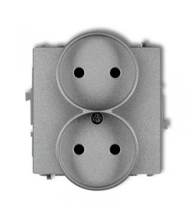 DECO Mechanizm gniazda podwójnego do ramki bez uziemienia 2x2P Karlik 7DGPR-2